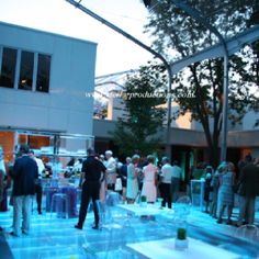 Spectacular Tented Event, With Glass Dance Floor over Pool! We so should do the dance floor over the pool!!!