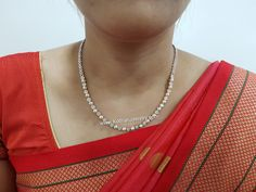 South Indian Light Weight Diamond Necklace