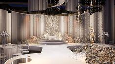 wedding concept - 岚 on Behance Wedding Stage Backdrop, Wedding Backdrop Design, Wedding Reception Design, Wedding Stage Decorations, Wedding Mandap, Backdrop Decorations, Wedding Halls, Wedding Receptions, Wedding Ideas