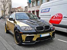 Gold BMW X6M Custom Hamann Supreme Edition #4