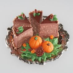 1/12 Scale Platter of cake slices | Stewart Dollhouse Creations