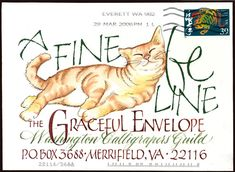 ♥♥ ✉ Wonderful calligraphy on this 2006 Graceful Envelope Contest entry. ✉ Snail mail art at its best.