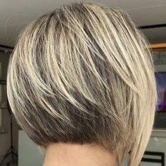 Stacked Bob Hairstyles, Short Bob Haircuts, Long Bob Hairstyles, Short Sassy Hair, Short Hair Cuts For Women, Tapered Haircut, Tapered Bob, Medium Hair Styles, Short Hair Styles