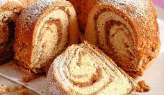 Recept, ktorý si musíte odložiť: Kysnutá bábovka s orechovou plnkou | DobreJedlo.sk Cornbread, Banana Bread, Good Food, Cake, Ethnic Recipes, Basket, Brown Bread, Rye, Bread Baking
