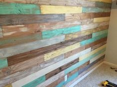 Simple Shiplap Wall on a Budget… – Humble Home Diy Wood Stain, Diy Wood Wall, Distressed Wood Wall, Rustic Wood Walls, Stained Shiplap, Plank Walls, Ship Lap Walls, How To Distress Wood, Wood Design