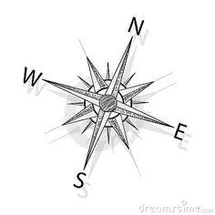 Vector Compass Stock Photo