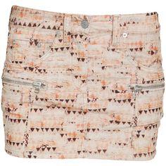 Isabel Marant Etoile Issop printed corduroy mini skirt ($310) ❤ liked on Polyvore