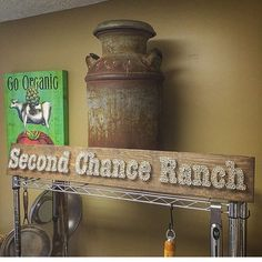 #tbt to one of our longest signs (5 feet👣)! We absolutely love this one! Second Chance Ranch 🐴🐽🐮 was a gift for someone's amazing grandma 😍 #secondchance #cow #organic #ranch #farm #animals #tomato #milk #kitchen #goorganic #rustic #country #dairy #old #antique #etsyelegance #beautiful #steel #cows #newengland #maine #mainelife #mainer #mainiac #mainetheway  #artichoke #food #eat