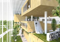 Helsinki Central Library by Radionica Arhitekture is part of Library architecture - Library Architecture, Green Architecture, School Architecture, Architecture Design, Library Plan, Library Design, Helsinki, Modern Library, Central Library