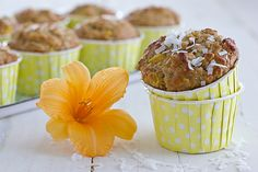 Mango Coconut Muffins. These muffins have a great base mixture and you can substitute and add in so many different things.