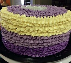 Ombre Cake with Buttercream Ruffles