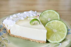 Key Lime Pie...this recipe always makes the most smooth and silky pie ever!
