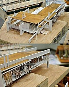 Nice model - Architecture and Home Decor - Bedroom - Bathroom - Kitchen And Living Room Interior Design Decorating Ideas - Maquette Architecture, Architecture Model Making, Concept Architecture, School Architecture, Interior Architecture, Interior Design, Room Interior, Arch Model, Model Homes