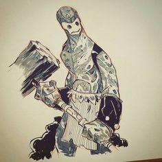 Rock hero? #inktober #2dbean #art #character #design #brettbean #sketch #drawing by brett2dbean