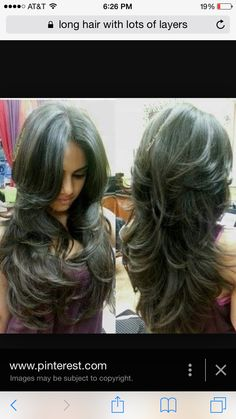 Long hair with short layers Long Layered Haircuts, Haircuts For Long Hair With Layers, Haircut And Color, Long Hair Cuts, Great Hair, Hair Dos, Pretty Hairstyles, Hair Hacks, Hair Inspiration
