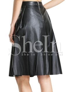 Shop Black PU Leather Pleated Skirt online. SheIn offers Black PU Leather Pleated Skirt & more to fit your fashionable needs.