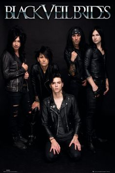 Black Veil Brides Band - plakat