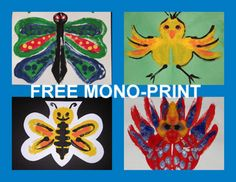"""FREE FREE FREE! SPRING SPRING SPRING! """"Easy-art"""" activities for your classroom!  Have fun and learn at the same time!"""