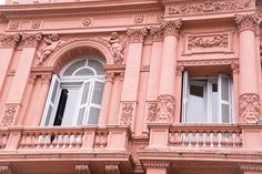 The famous balcony of the pink house in Buenos Aires Why Buenos Aires should be on your bucket list #buenosaires #argentina #travel #travelphotography #bucketlist #southamerica #photography