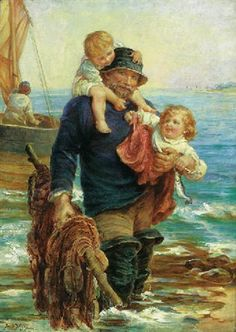 """The Ferry"" -- by Frederick Morgan  (British, 1856–1927)"