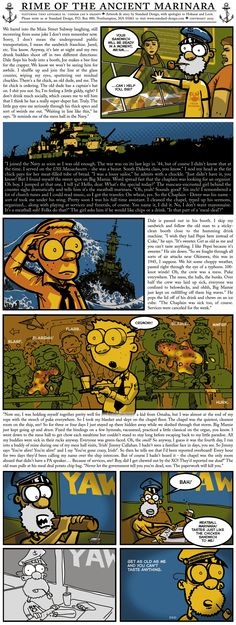 Rime Of The Ancient Marinara, by Tom Pappalardo - #comic #webcomic