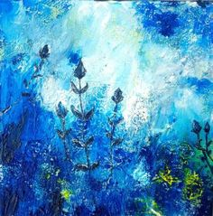 "Saatchi Art Artist Laura Spring; Painting, ""Blue Rhapsody"" #art"