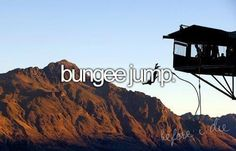 Bungee jumping is a thrilling adventure that I definitely want to do someday. The Bucket List, Bucket List Before I Die, Fun Bucket, National Geographic Adventure, Adventure Bucket List, Bungee Jumping, Base Jumping, Six Feet Under, Just Dream