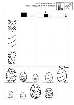 Preschool Graphs, Printable Preschool Worksheets, Preschool Learning, Worksheets For Kids, Kindergarten Activities, Easter Activities, Infant Activities, Math For Kids, Crafts For Kids
