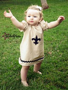 New Orleans Inspired Saints Dress by ItsANOLAThang on Etsy