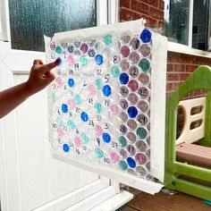 """Lisa Lou and her crew on Instagram: """"Pop the number - here's a little number activity we did this morning before I went to work. I wrote the numbers 1 to 40 on the bubbles, and…"""" I Go To Work, Going To Work, Number Activities, Bubble Wrap, Lisa, Bubbles, Frame, Numbers, Pop"""