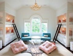 Really like this idea for a house in the future with built in sleeping area for grandkids etc. :)