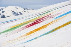 snow drawing by olaf breuning for 'elevation1049' in gstaad, switzerland #art #installations