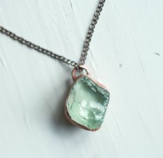 Raw Topaz Necklace Blue Topaz Pendant by AmandaLeilaniDesigns, $55.00