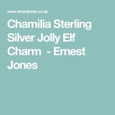 Chamilia Sterling Silver Jolly Elf Charm  - Ernest Jones