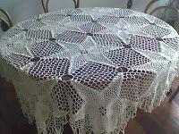 Arte em Crochet: Toalha de mesa bem natalina