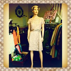 A gorgeous lace dress from the early 1960s just in