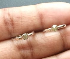 Grey Yellow Rose Cut Diamond Earrings Rough by gemsforjewels