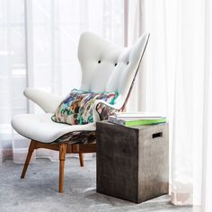 Australian Made Featherston Wing Chair Reproduction | The Block Shop - Channel 9  #InteriorDecorating #HomeFurnishings #DecoratingIdeas #InteriorDesignIdeas #DIYDecorating #Homewares #Channel9 #TheBlock #TheBlockShop #ChantelleandSteve #FansvsFaves