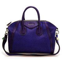 New Givenchy Antigona Patent leather Satchel 9981 Deep purple