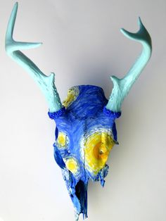 Deer+Skull+with+antlers+Starry+Night