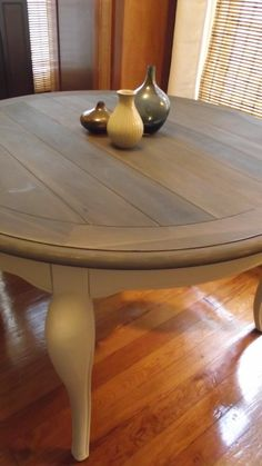 Dining Room Table Makeover    Love The Idea Of Two Toned Staining. Wonder  If I Could Restain Mine... #diningroom | Interior Design | Pinterest |  Stains, ...