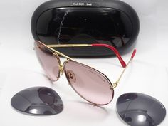0e82b57fd7 Vintage carrera porsche design 5623 col.36 red 130 sunglasses + extra lens  +case