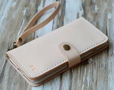 Wristlet iphone 6s case leather iPhone 6 wallet case iPhone 6s plus case wallet iPhone 6 case leather iPhone 6 plus monogram wrist strap