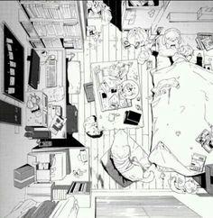 Manga Landscape/House