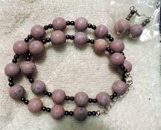 Handmade - Purple Beaded Necklace Set