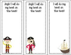 FREEBIE! Testing Motivation Slips in 5 themes: owls, frogs, pirates, zoo animals, and robots!