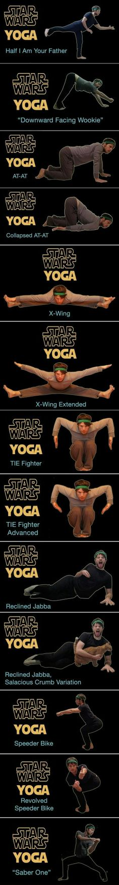 Star Wars yoga!!