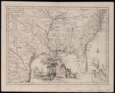 Carta geografica della Florida nell' America settentrionale · L'Isle, Guillaume de, 1675-1726 · 1750 · Albert and Shirley Small Special Collections Library, University of Virginia.
