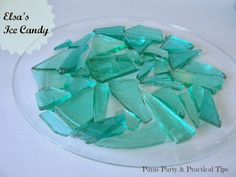 Elsa's Ice Candy. Imagine the possibilities! Click here for step by step instructions with photos.