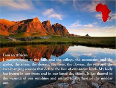 Credits: Taken from the I am an African speech by Former President of South Africa Thabo Mbeki
